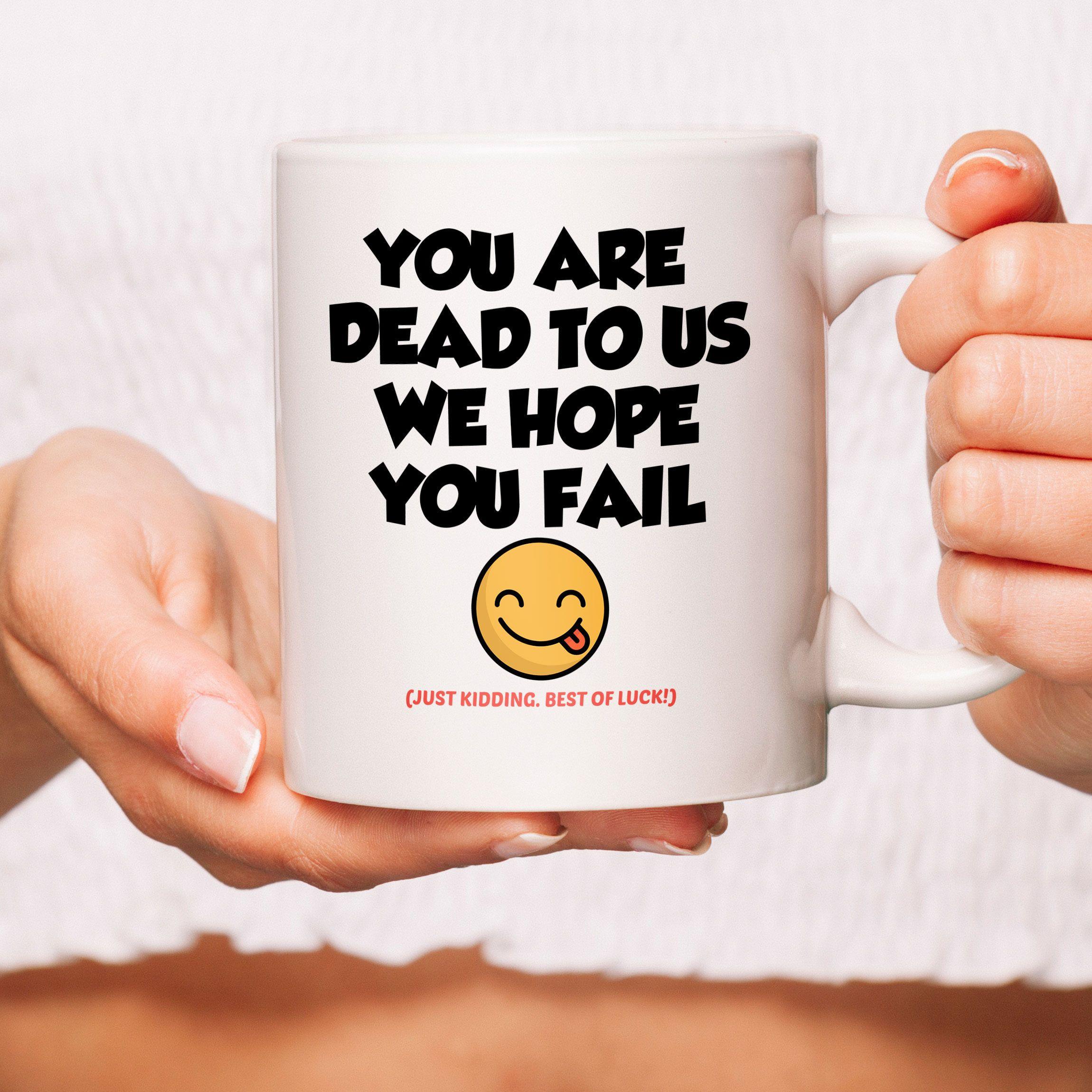 Funny New Job Mug Leaving Job Gift Good Luck New Job Etsy In 2021 Good Luck New Job Job Gifts Goodbye Gifts