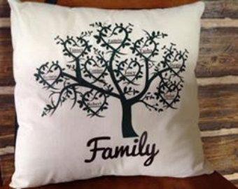 Copertura del cuscino personalizzato albero di BlueLeafBoutique