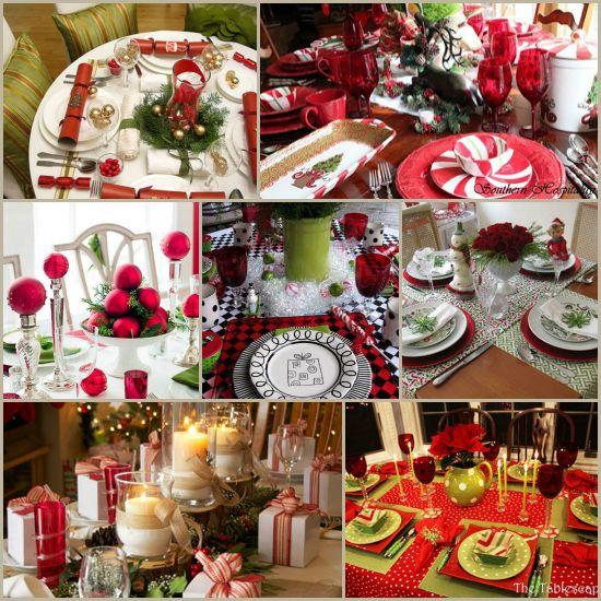 Christmas Table Settings Round Up 27 Fabulous Ideas Christmas Table Decorations Pink Christmas Table Setting Christmas Table Settings