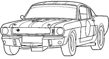 Ford Car Racing Coloring Page