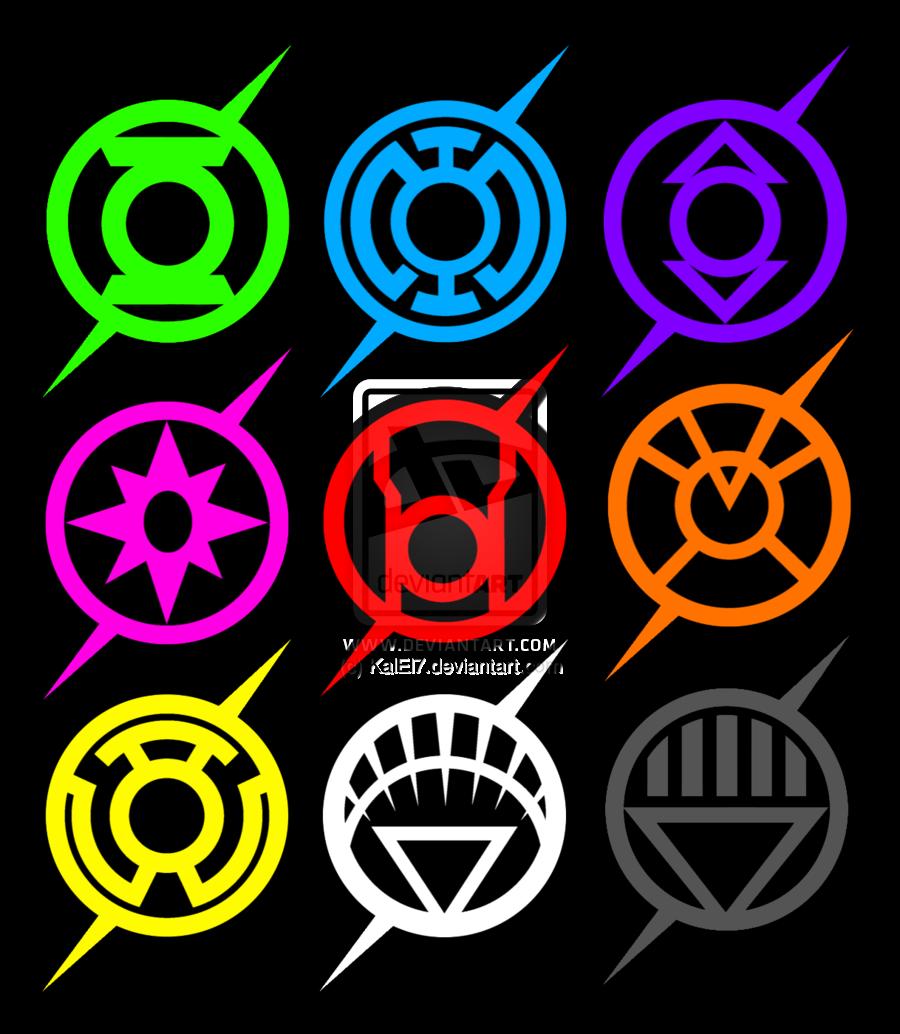 the flash lantern corp logo spectrum by KalEl7.deviantart ...Orange Lantern Corps Logo