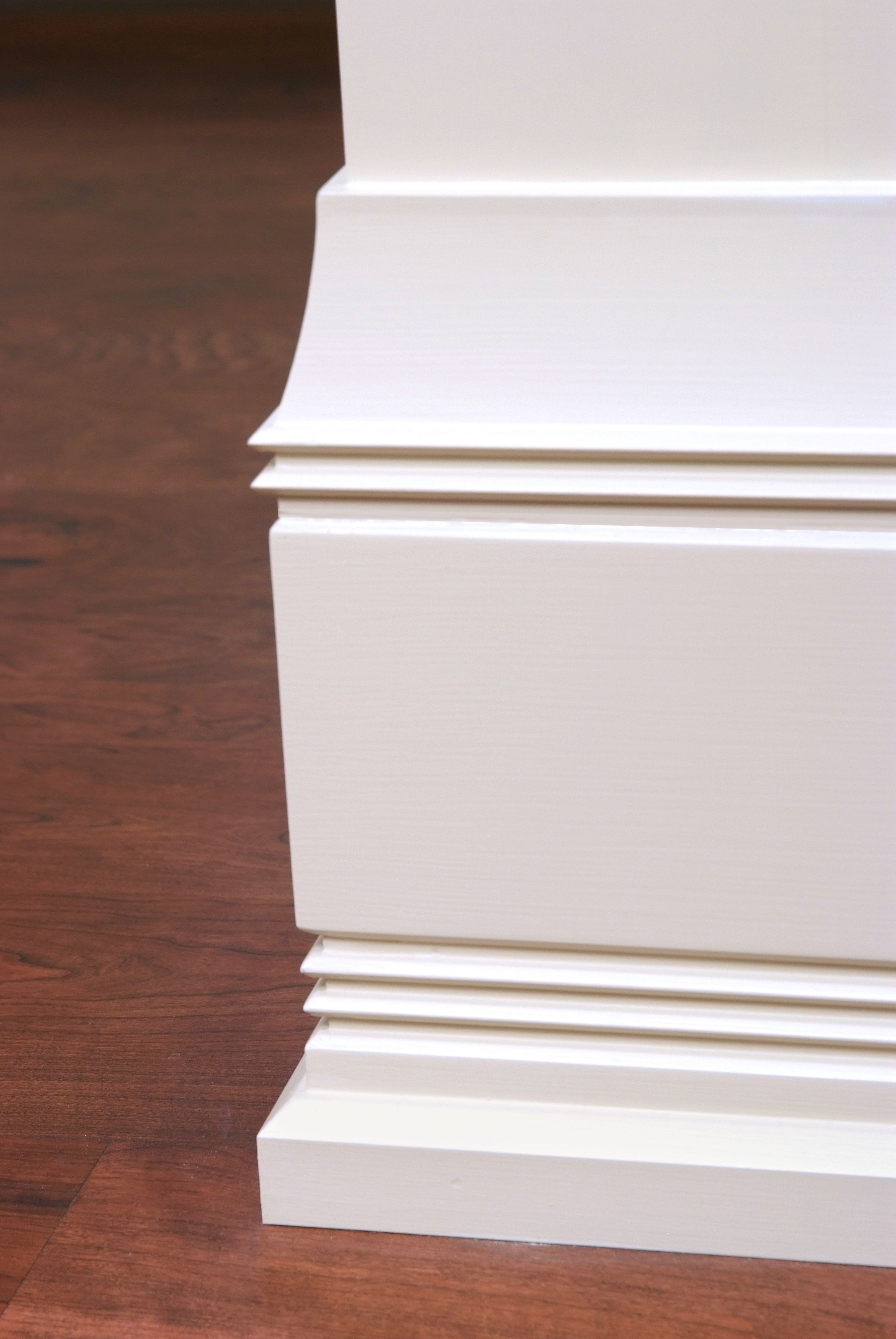 custom painted poplar baseboard and shoe molding detail. Black Bedroom Furniture Sets. Home Design Ideas
