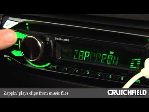 Sony CDX-GT575UP CD Receiver Display and Controls Demo