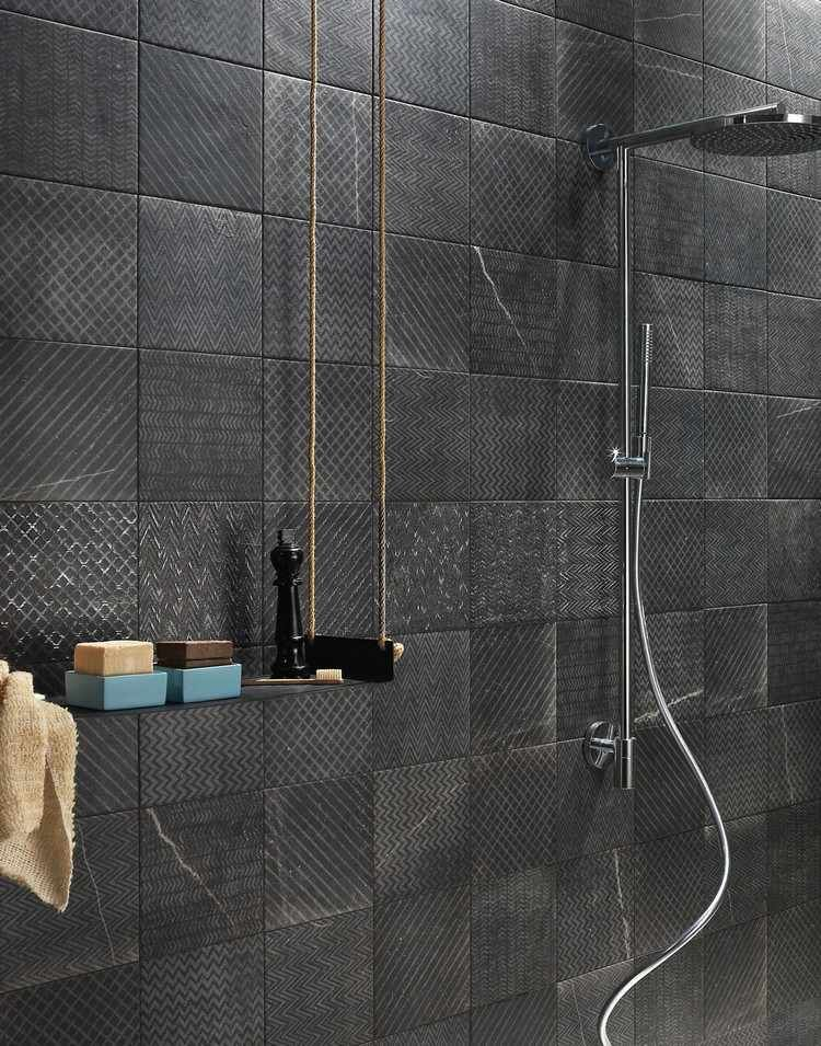 carrelage mural salle de bain de design italien en 15 photos fap ceramiche. Black Bedroom Furniture Sets. Home Design Ideas