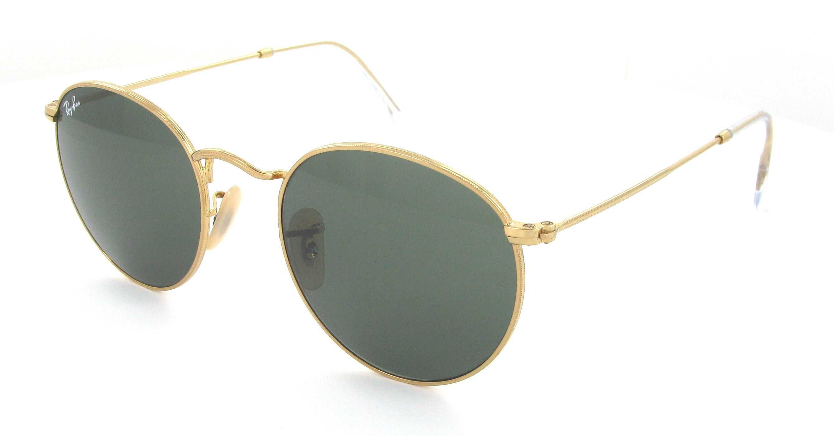 RAY BAN RB 3447 001 Round Metal doré 5321 Optical Center