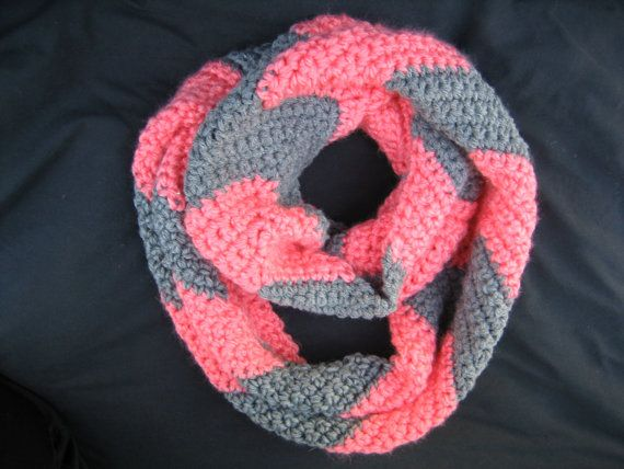 Crochet Chevron Infinity Scarf By Candybirdboutique On Etsy 2800