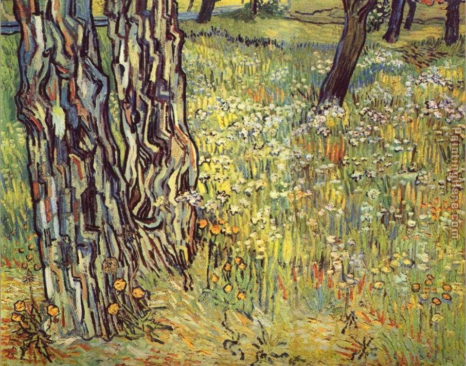vincent van gogh paintings | Vincent van Gogh - Vincent van Gogh Tree trunks Painting