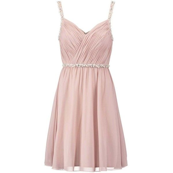 Laona Cocktail dress Party dress cream pink ($170) ❤ liked on ...