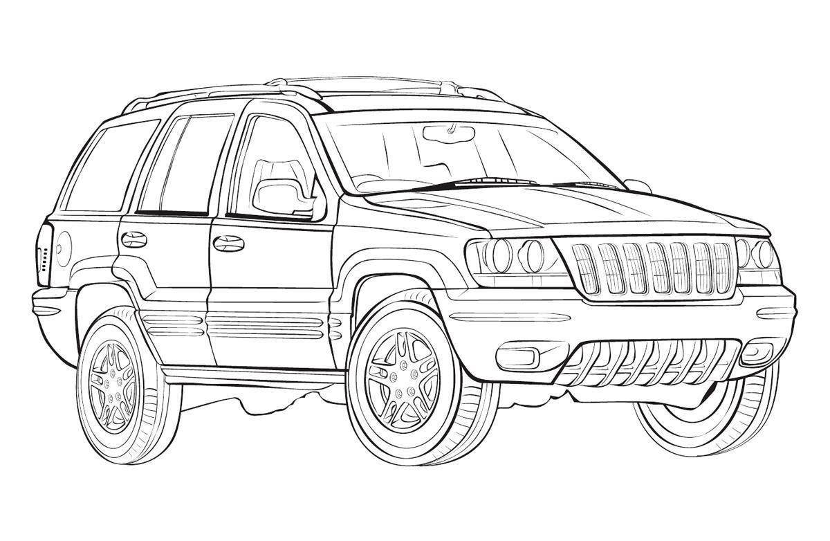 ausmalbilder jeep 01 | ausmalbilder | pinterest | jeeps