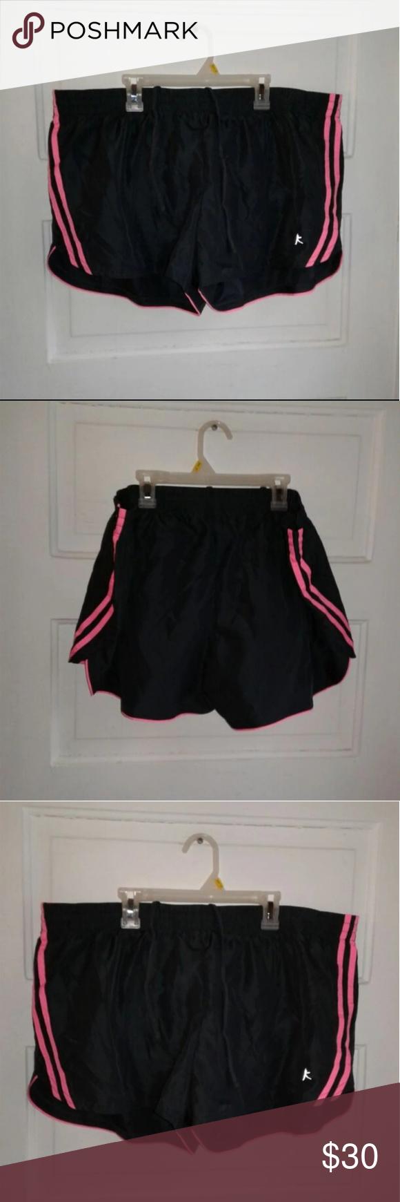 Danskin Now Black Pink Drawstring Shorts Drawstring Shorts Black Pink Danskin