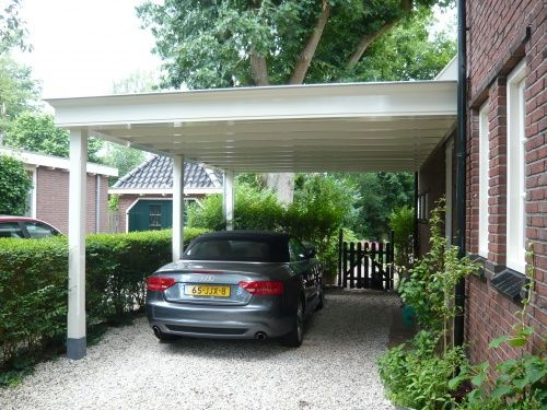 Overkapping Voor Auto : Auto onder overkapping carpoort pinterest garage house and home