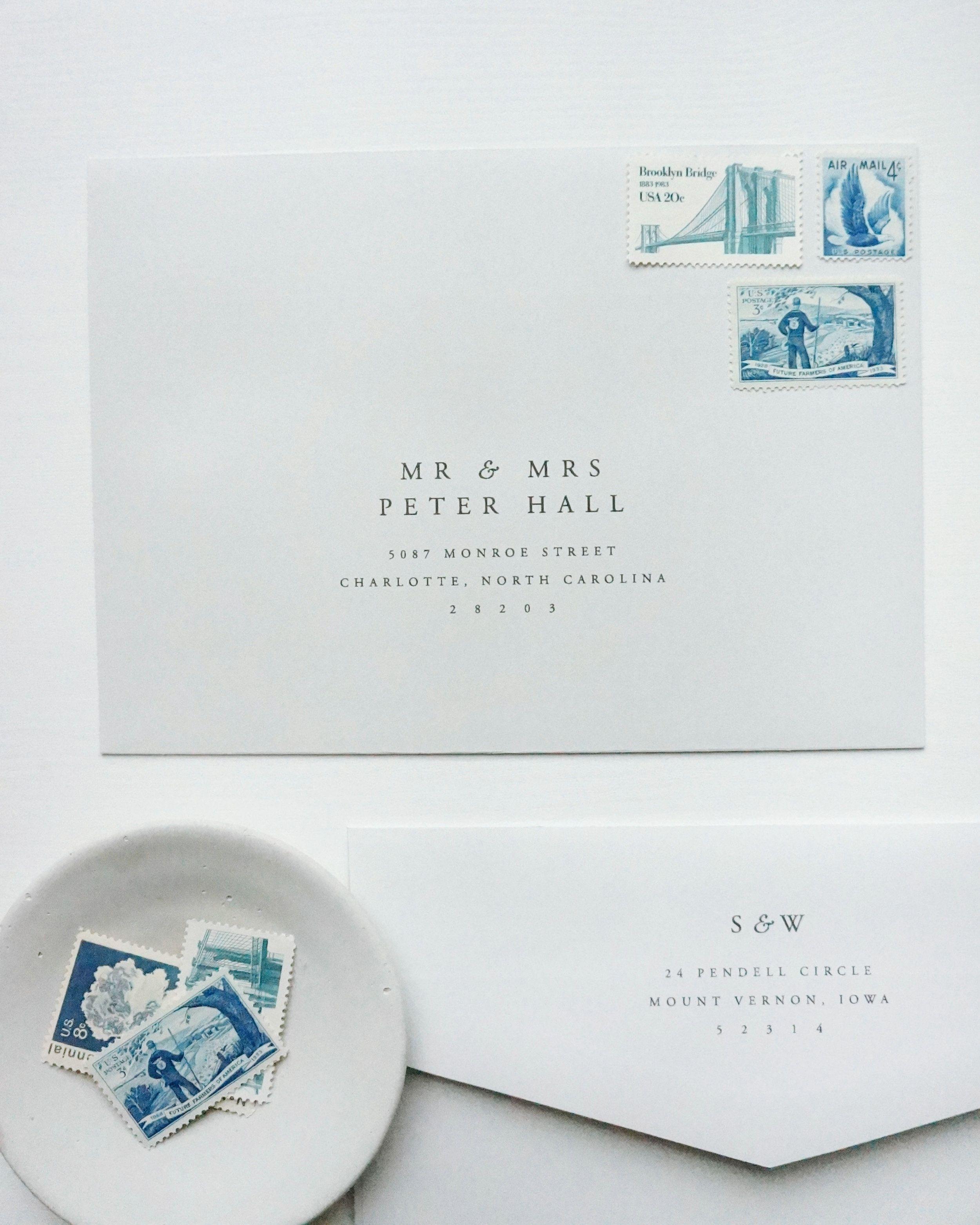 Gatherie Creative Envelope Guest Addressing Wedding Invitation Envelopes Addressing Envelopes Wedding Wedding Invitation Stamp