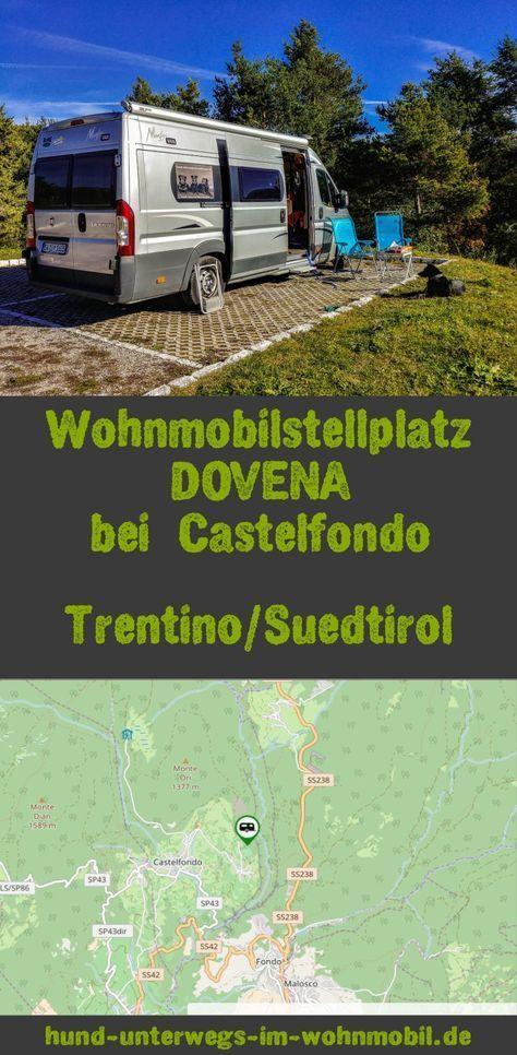 Wohnmobilstellplatz Dovena in Südtirol Wohnmobil