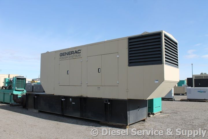 Generac 800 kw dieselgenerator with 123 hours of use and