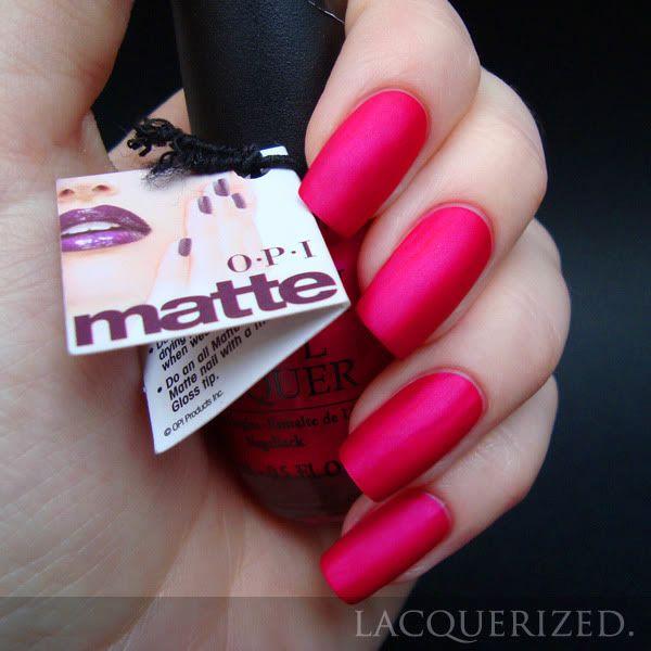 OPI La Paz-itively Hot Matte | Nails* | Pinterest | Manicuras ...