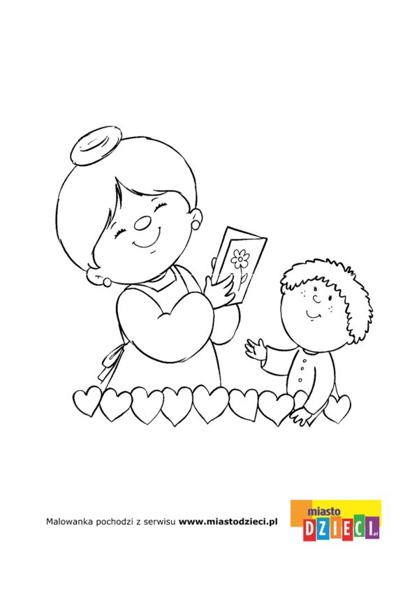 Kolorowanka Laurka Dla Babci Grandparents Day Home Decor Decals Character