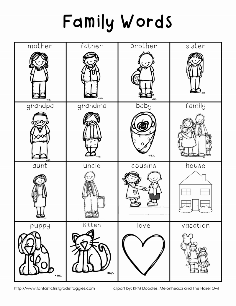 medium resolution of Family Words - Great for writing folder   Writing folders