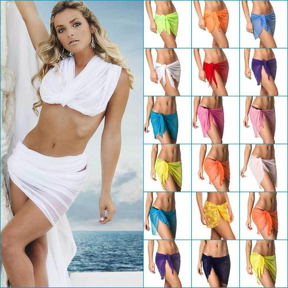 2a9c459f85412 Coqueta Mesh Bikini beach Cover Up Sarong Pareo Swimsuit Wrap Swimwear  skirt hot  Swimwear COQUETA