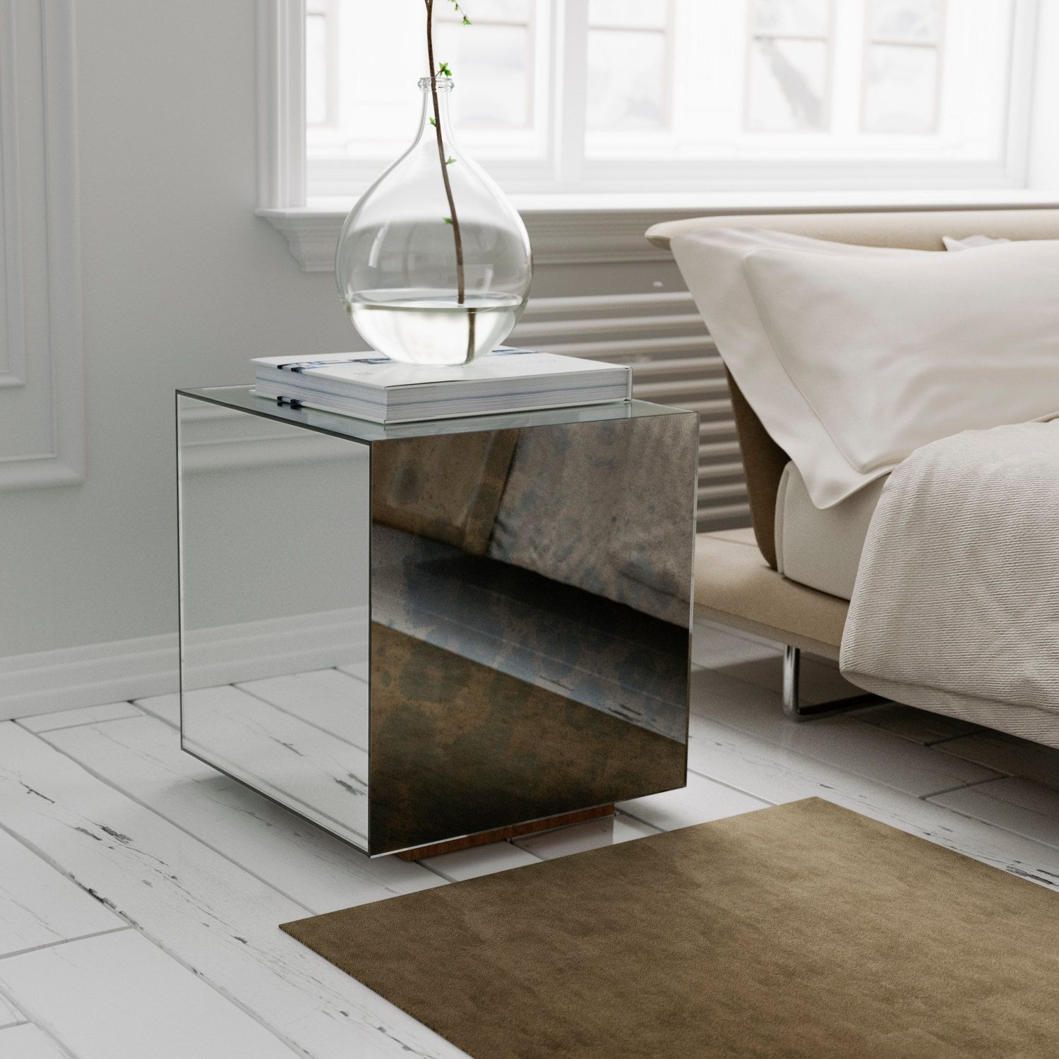 Pin by MirrorCoop on Mirrors Mirrored side tables