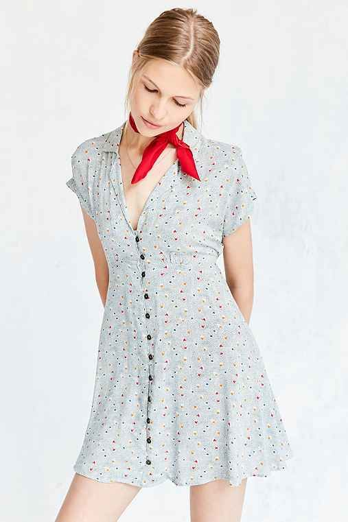 ac1aede0df64b8 Kimchi Blue Lucy Printed Shirt Dress - Urban Outfitters