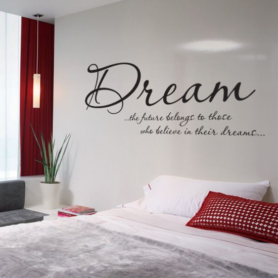 bedroom wall text sticker Home Bedroom ideas Pinterest