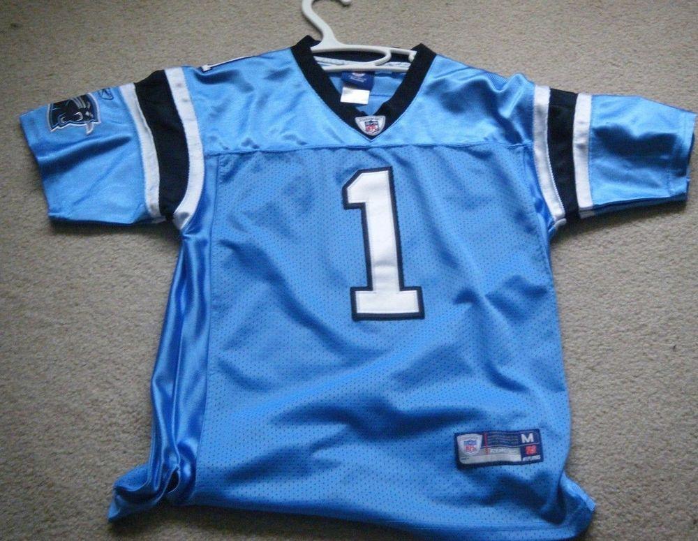 huge selection of 505d3 24a8d Cam Newton Carolina Panthers Reebok On Field Blue Jersey ...