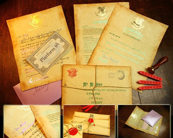Hogwarts Acceptance Letter With DumbledoreS Late Delivery Apology
