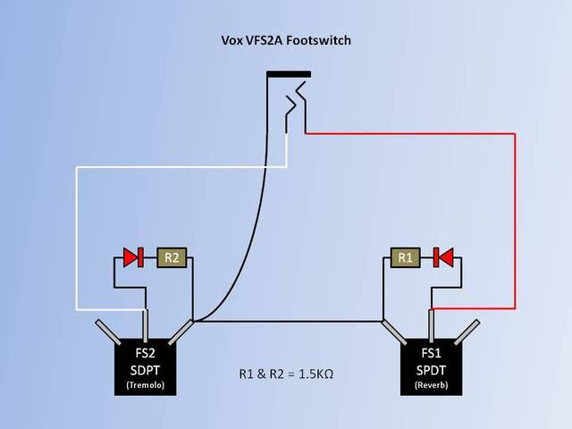 Add Leds To Vfs2 Footswitch Diagram Guitar Tech Line Chart