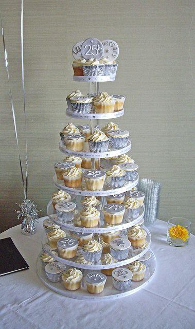 Anniversary Cupcake Tower Anniversary Cupcakes 25