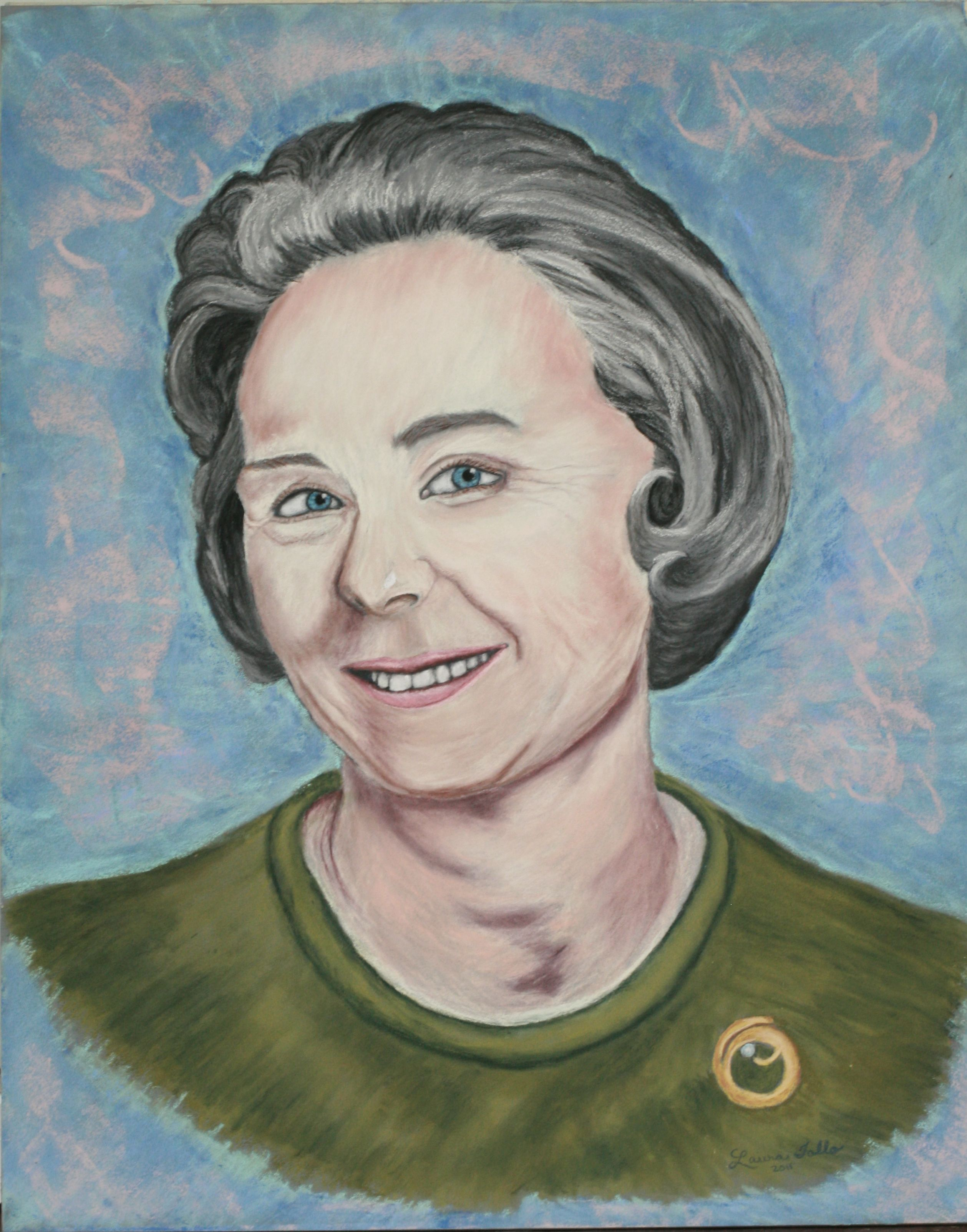 Pastel of Grandma Whittie