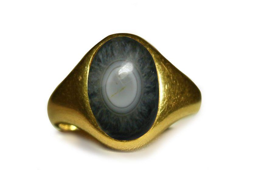 roman amuletic agate intaglio gold roman ring depicting piercing eye ...
