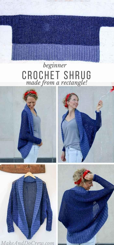 Photo of Lightweight + Easy Crochet Shrug – Free Pattern