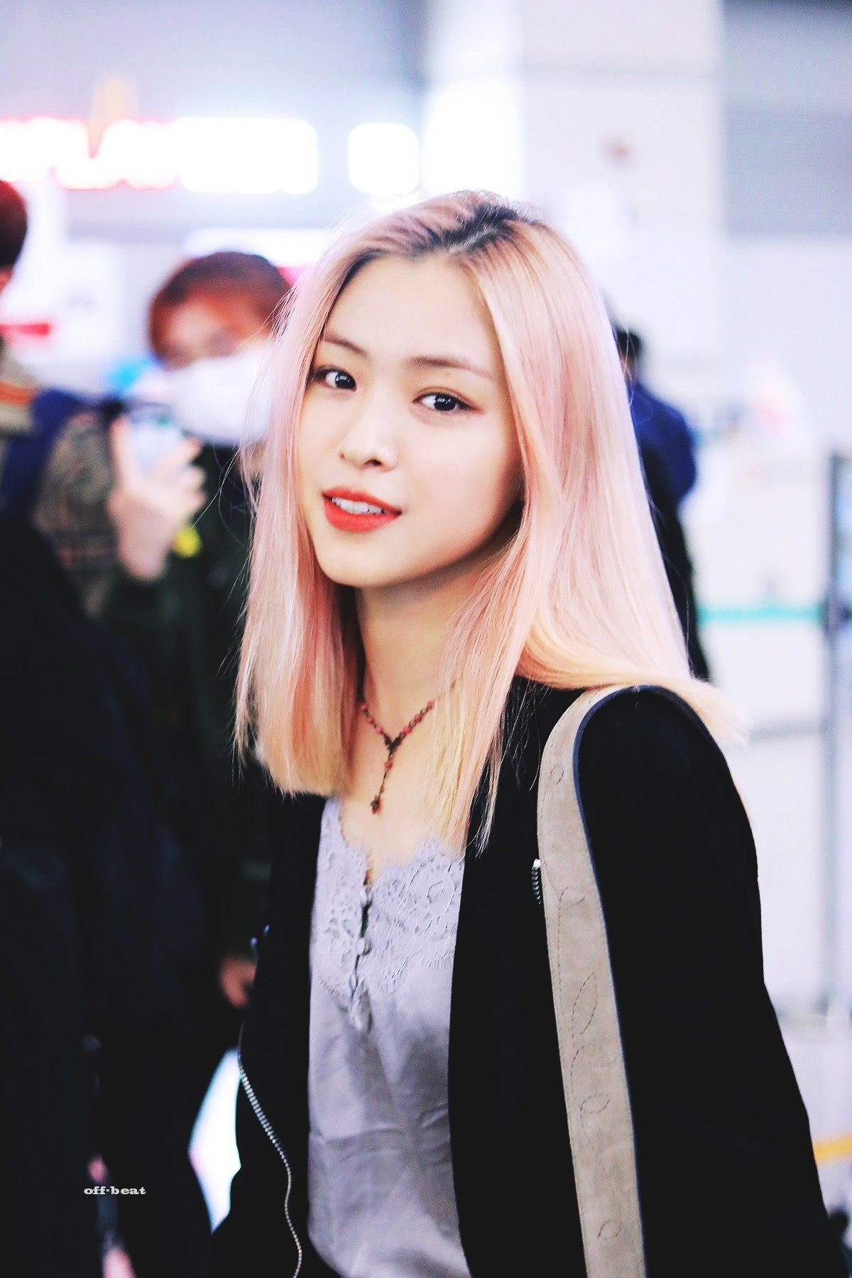 Itzy Ryujin Itzy Pink Hair Kpop Girls