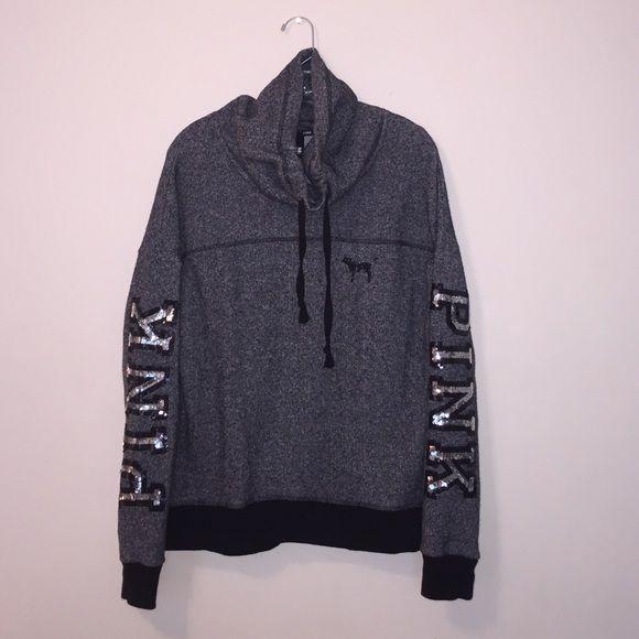 Baggy Grey Cowl Neck Good condition. I don't trade. PINK Victoria's Secret Tops Sweatshirts & Hoodies
