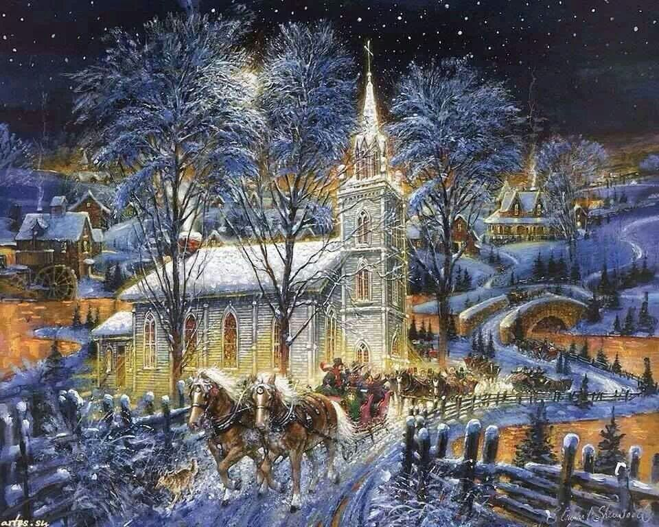 Currier And Ives Looking Christmas Art Christmas Scenes Currier And Ives