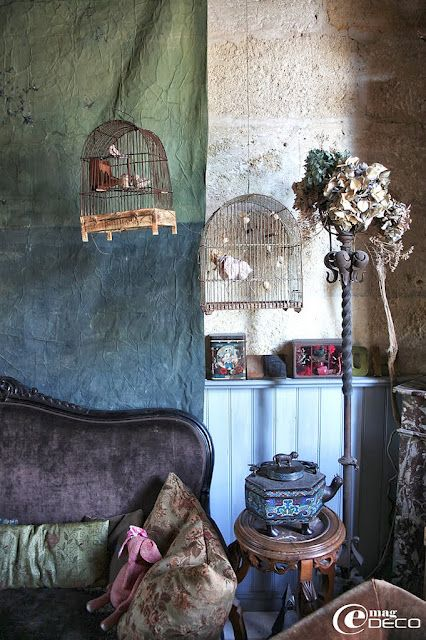 Vintage bird cages from missclara.com