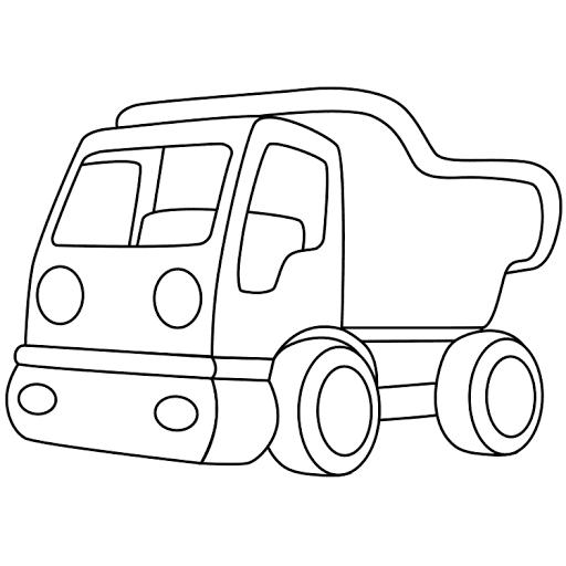 Mewarnai Gambar Mobil Truk Pasir Coloring