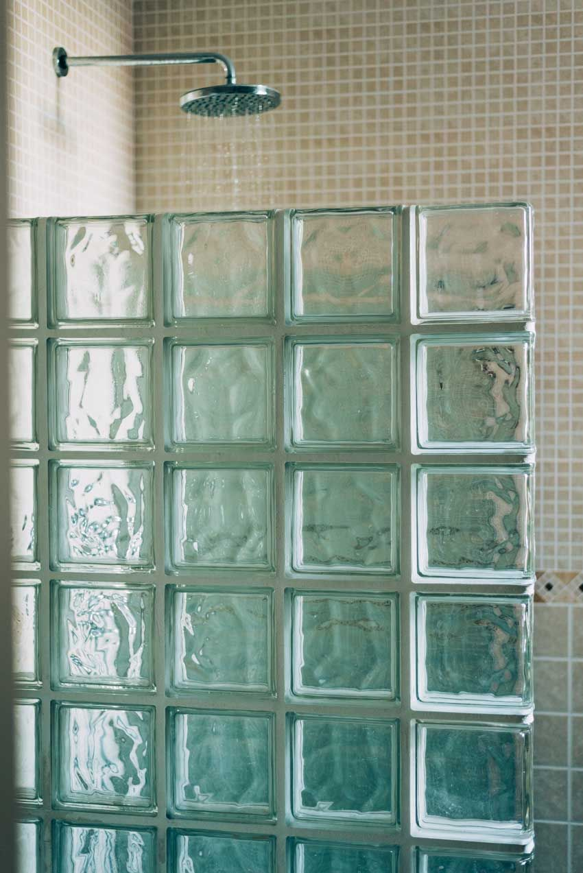 6 pezzi BM vetromattone ACQUA perlado antracite 19x19x8 cm