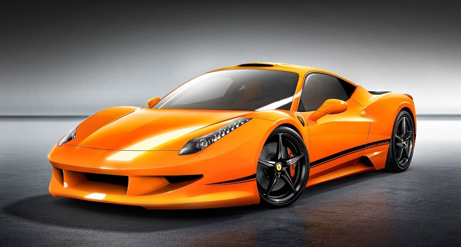 Gorgeous Orange Ferrari