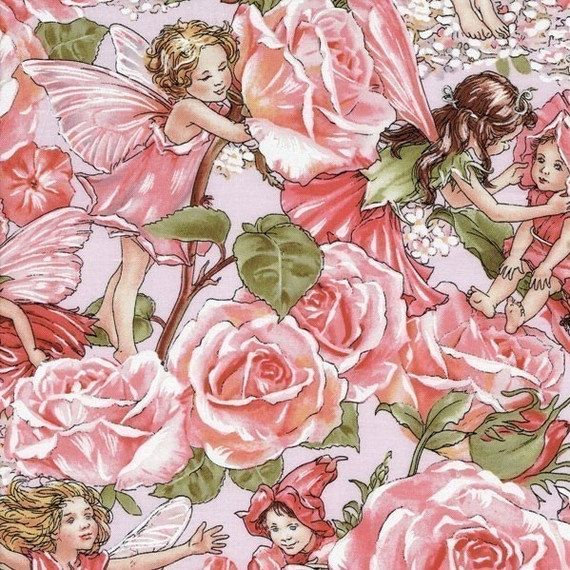 flower fairy rose sweet garden pink cicely mary barker. Black Bedroom Furniture Sets. Home Design Ideas