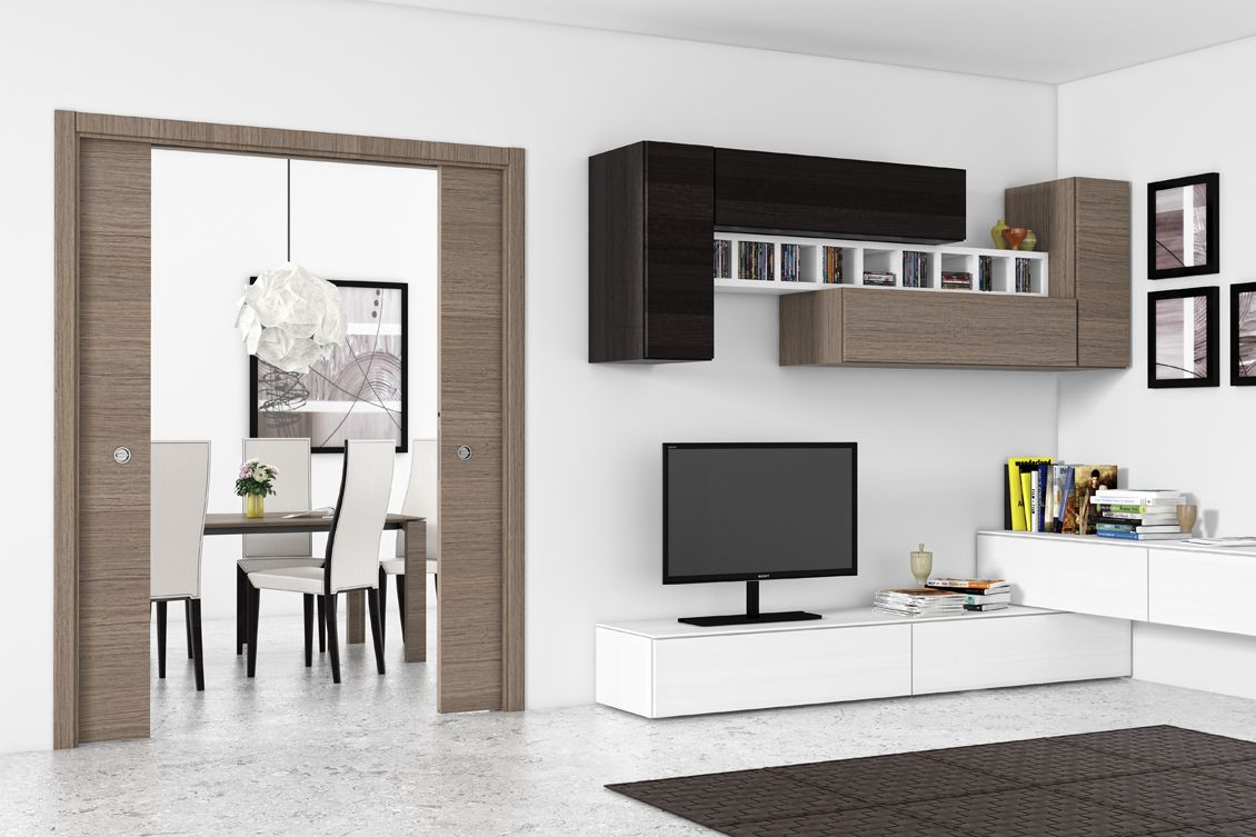 portes coulissantes galandage ermetika evolution max double vantaux home sweet home. Black Bedroom Furniture Sets. Home Design Ideas