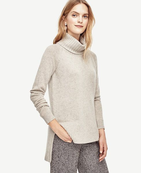 Cashmere Turtleneck Tunic Sweater | Ann taylor, Taylors and Tunics
