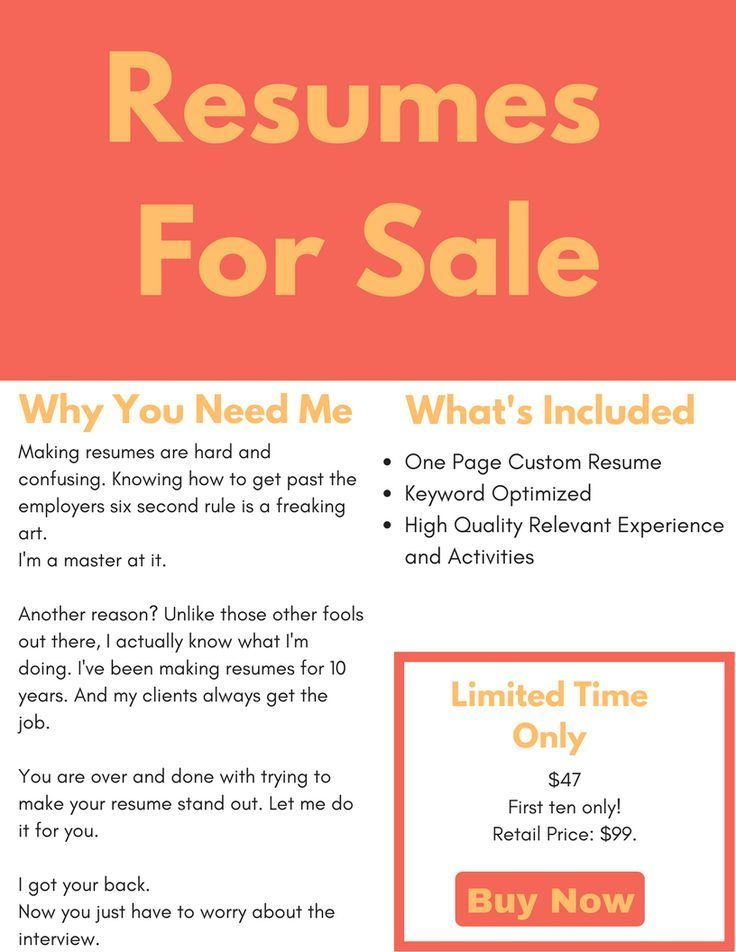 Ready to upgrade your sorry resume? Professional resume service for