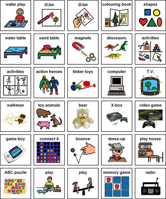 Visual cue cards for use with autistic children. Printable and ...