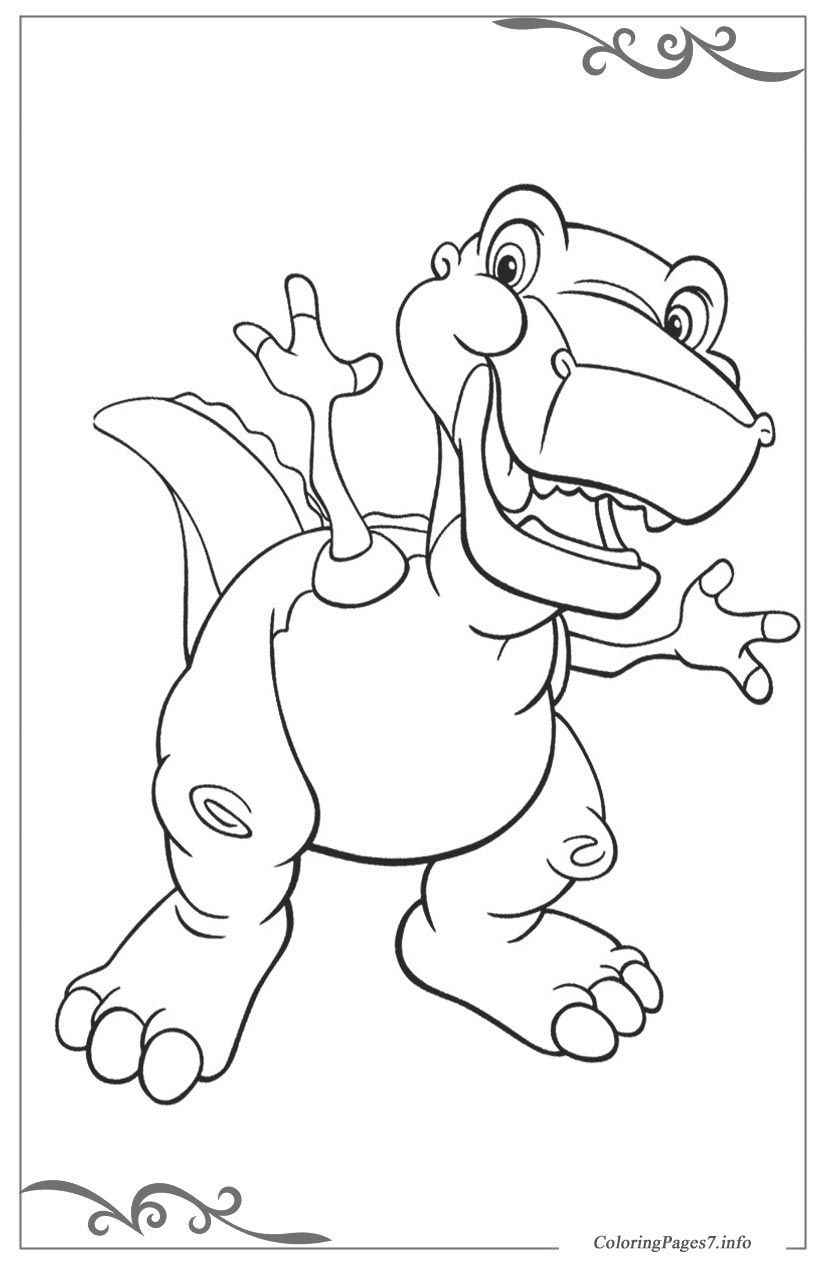 The Land Before Time Printable Coloring Pages for Kids | Coloring ...