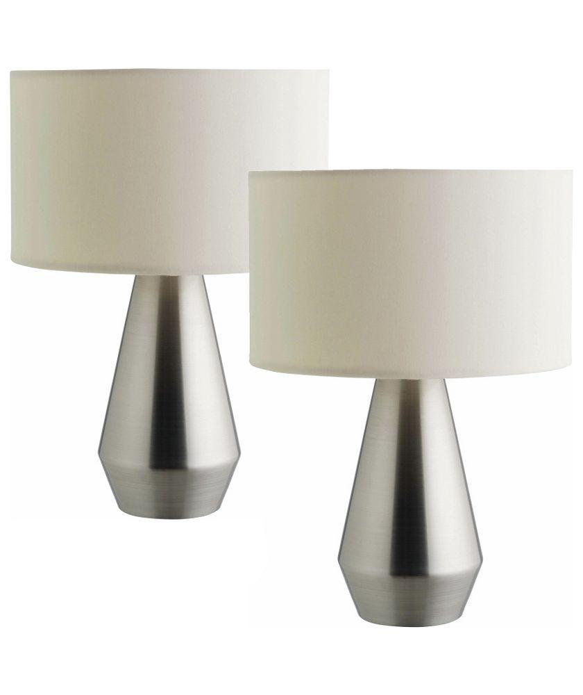 buy habitat maya touch base table lamps set of 2 at argos co uk