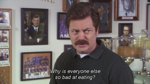 Ron Swanson Made A Point Parks N Rec Parks And Recreation Ron Swanson