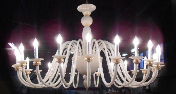 Lampadario vetro murano lampadario in vetro bianco sistema con