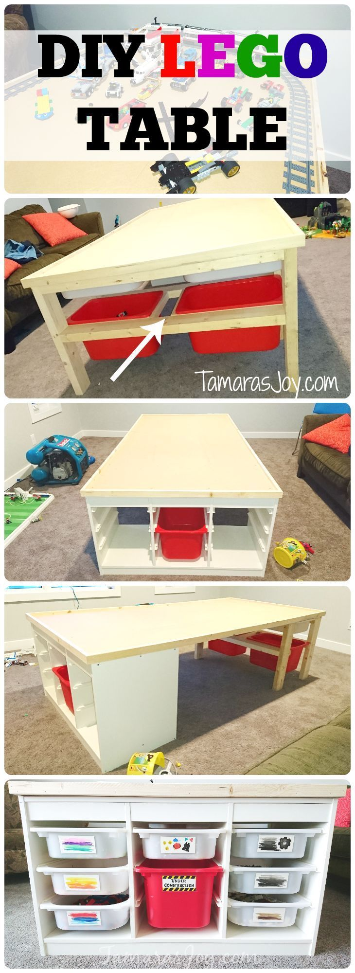 DIY LEGO TABLE - IKEA HACK ⋆ Tamara's Joy