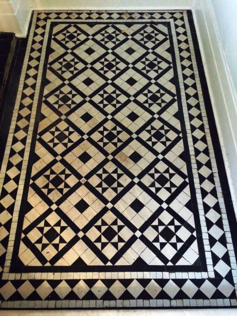 Pin By Julie Smith On Victorian Flooring Black And White Tiles Black And White Hallway Victorian Tiles